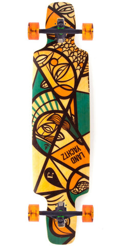 "Landyachtz Drop Carve 37"" Nautical Complete Longboard"