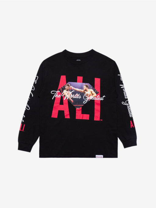 Diamond X Ali Sign Long Sleeve Tee - Black/Red