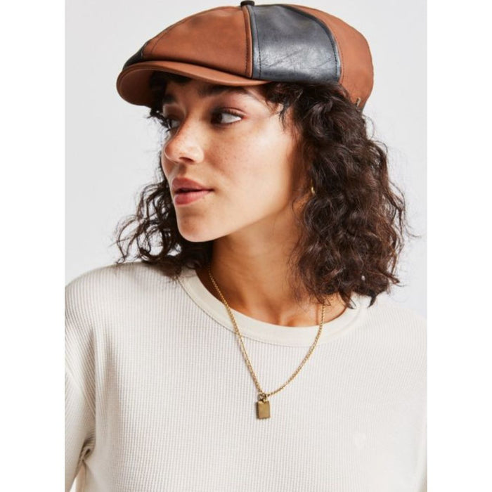 BROOD WOMENS SNAP CAP - BROWN/BLACK