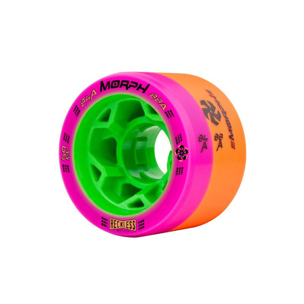 Reckless Morph Dual Durometer Roller Skate Wheels 4 Pack - 38mm x 59mm