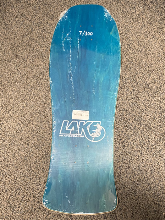 "Lake Skateboards Guts Blue Stain Limited Edition Old School Reissue Skateboard Deck 10"" x 30"""