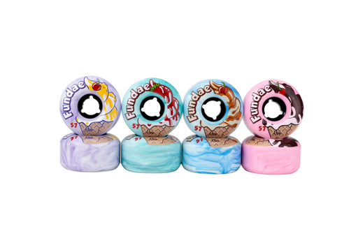 Moxi Fundae Roller Skate Wheels 4 Pack