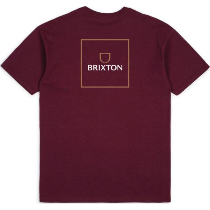 Alpha Square S/S Standard Tee - Burgundy