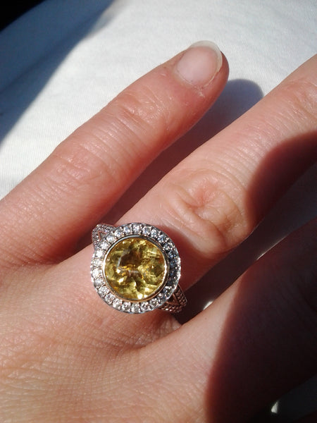 muriel's golden beryl engagement ring
