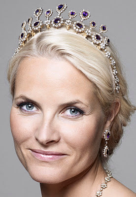 Queen-Sonje-Amethyst-Parure -Crown-Princess-Mette-Marit-Norway
