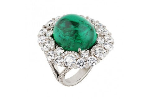 Fabergé emerald cabochon ring