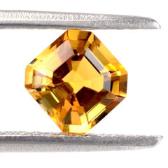 citrine asscher cut extra quality gemstone