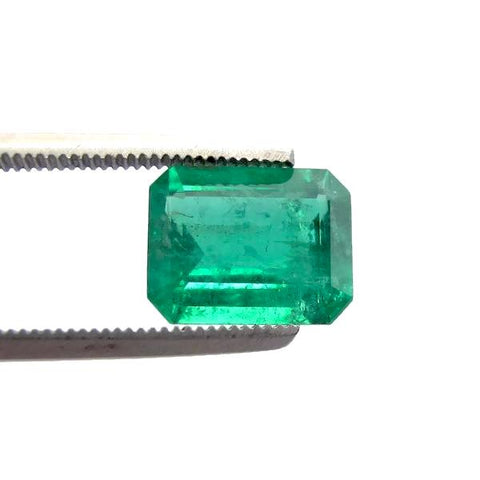 emerald genuine octagon emerald cut 9.7x7.5mm gemstone
