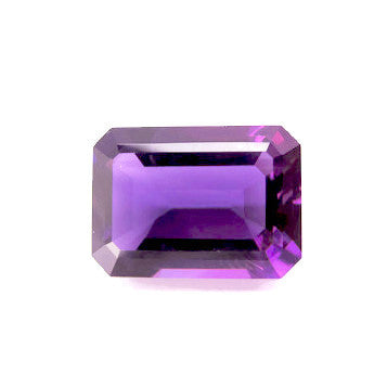 natural amethyst emerald octagon cut 14x10mm loose gemstone