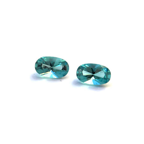 natural paraiba tourmaline oval cut 5x3mm gemstone