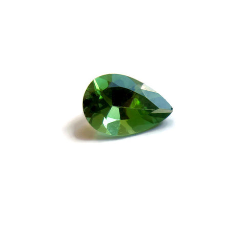 natural green tourmaline pear cut 7x5mm loose jewel from Brazil