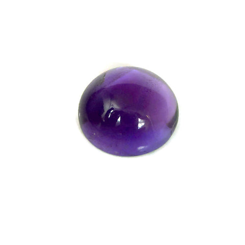 natural amethyst cabochon round shape 20mm loose gemstone