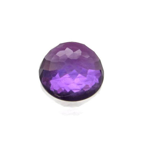 amethyst purple round flower cut cabochon 8mm loose gemstone
