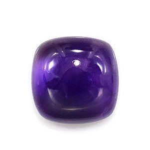 Amethyst cabochon cushion cut - 8mm