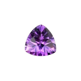 Natural amethyst trillion concave cut 12mm gemstone