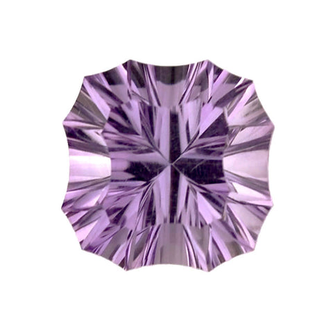 natural amethyst cushion concave cut 8mm loose gemstone