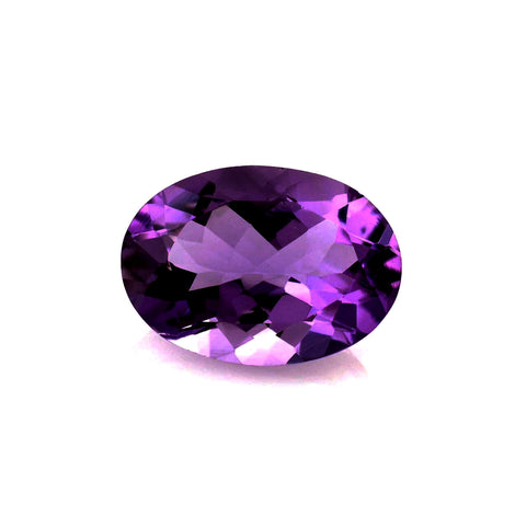Natural amethyst oval cut 14x10mm gemstone