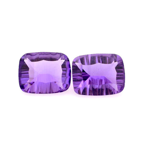 Natural amethyst concave cushion cut 16x8mm gemstone