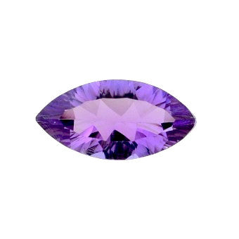 Natural amethyst marquise concave cut gemstone