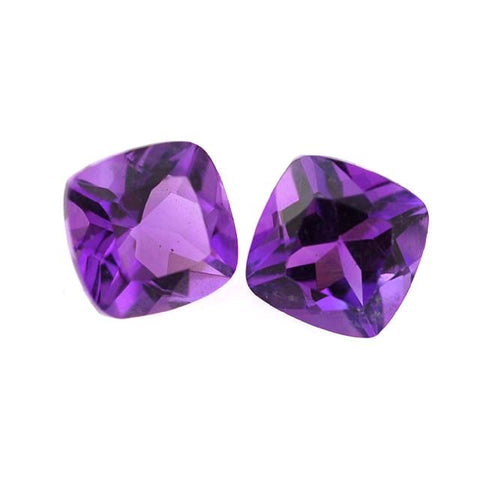 Amethyst cushion cut - 7mm