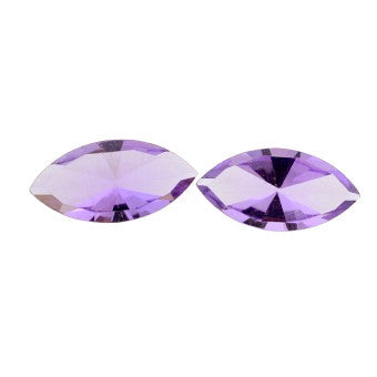 Amethyst marquise mirror cut - 14 x 7 mm