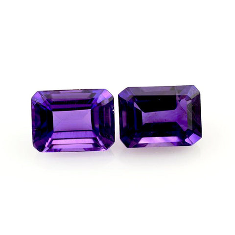 Amethyst emerald octagon shape 8x6mm loose stone