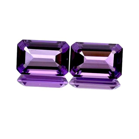 amethyst emerald octagon cut 15x11mm loose gemstone