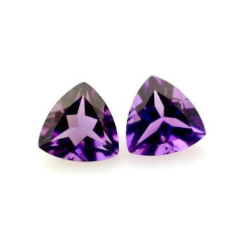 Amethyst trillion cut  - 8 mm