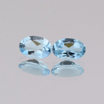 Aquamarine oval shape - 7 x 4 mm