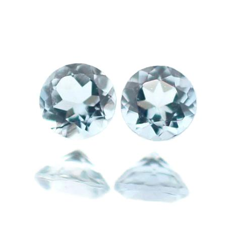 aquamarine blue round brilliant cut 6mm loose gemstone