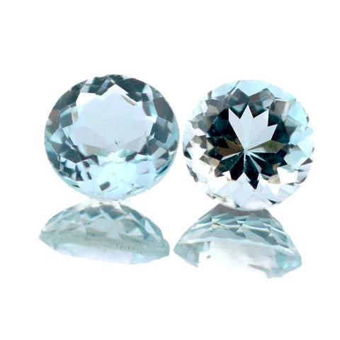 natural aquamarine round cut 5mm gemstone