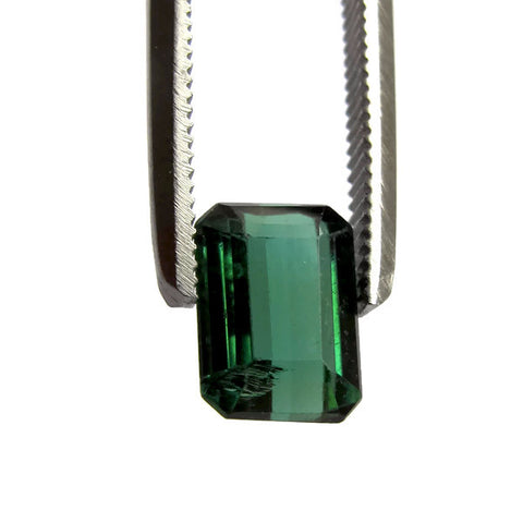 Natural green tourmaline  octagon emerald cut 7x5.5mm gemstone