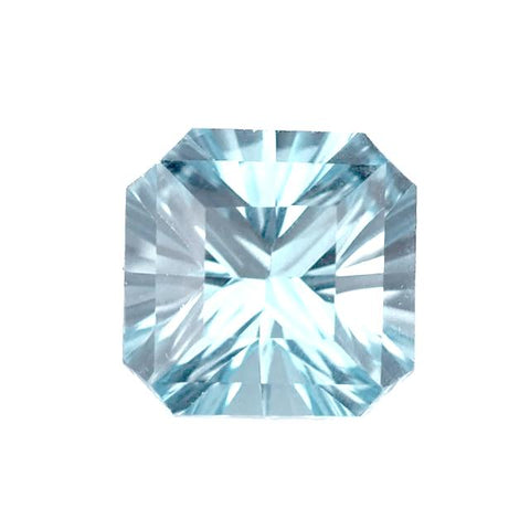 Blue topaz asscher octagon cut - 10mm (Sky)