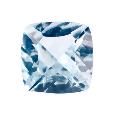 natural sky blue topaz concave cushion cut 8mm gemstone