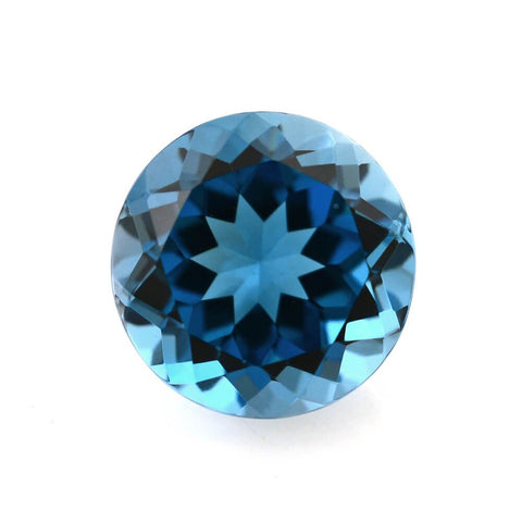 Blue Topaz round cut - 8mm (London)