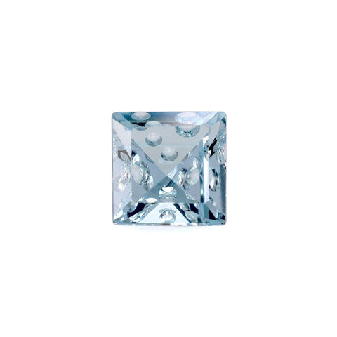 natural sky blue topaz square bubble cut 8mm loose stone