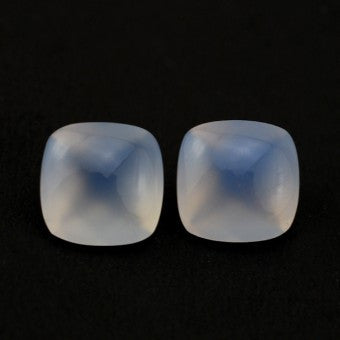 Chalcedony - Top polished cushion - 10 mm