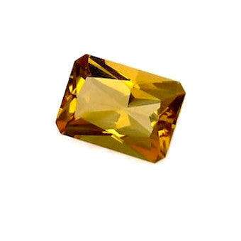 Citrine emerald antique cut - 18 x 13 mm