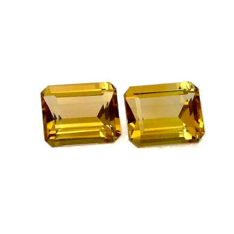 Citrine emerald octagon cut 12x10mm emerald octagon cut