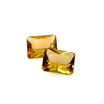 Citrine octagon antique cut - 13 x 9 mm