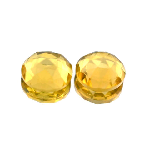 Natural citrine round rose cut cabochon 5mm gemstone