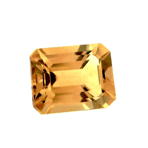 citrine yellow golden emerald octagon cut 10x8mm natural gemstone