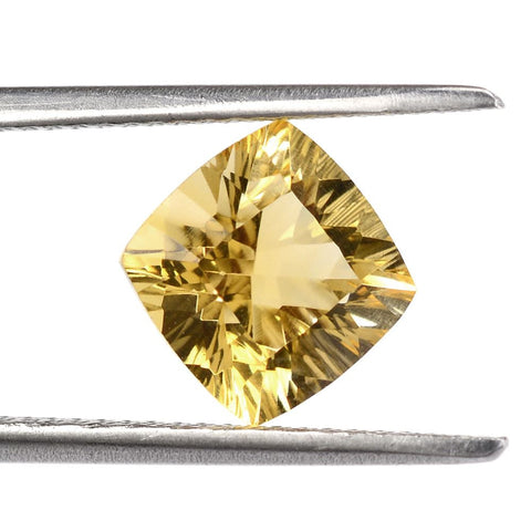 natural concave cushion cut citrine 8mm gemstone