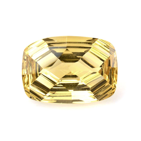 natural cushion step-cut citrine 14x10mm gemstone