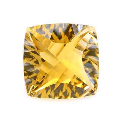 Citrine cushion concave cut - 12mm