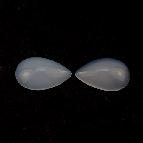 natural chalcedony pear cut cabochon 13x8mm gemstone