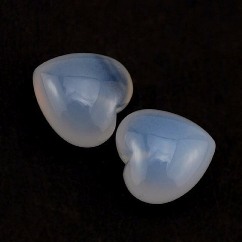 natural chalcedony heart cut 10mm gemstone