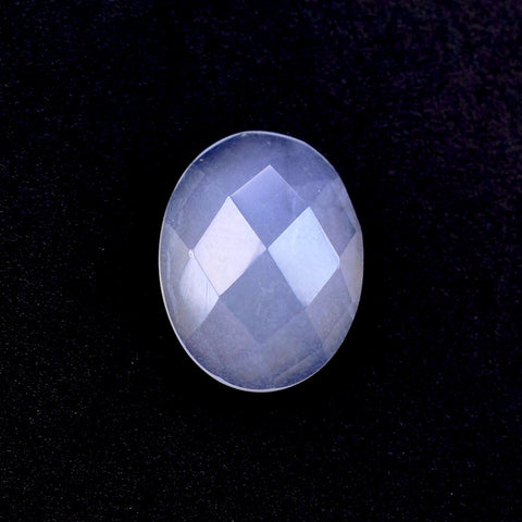 natural chalcedony oval checkerboard cut cabochon 9x7mm jewel