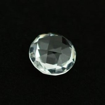 Crystal Quartz round briolette cut - 8 mm