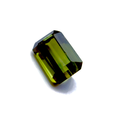 Natural green tourmaline octagon emerald cut 7.5x5mm gemstone